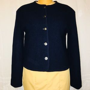 TALBOTS Navy Blue Wool Jacket